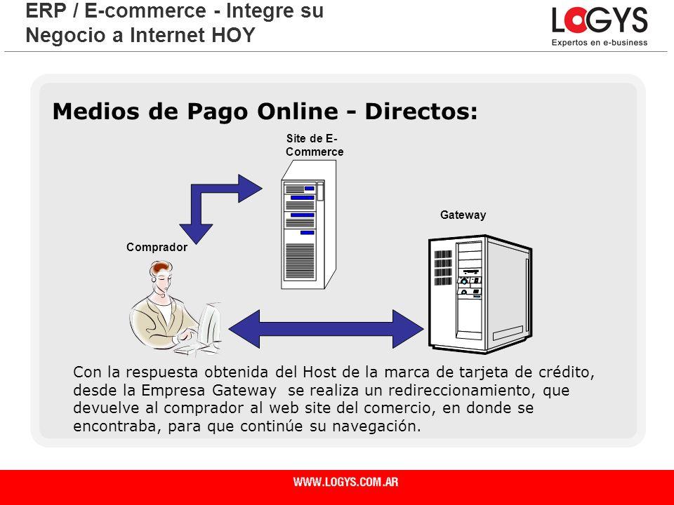 Página 25 Medios de Pago Online - Directos: ERP / E-commerce - Integre su Negocio a Internet HOY Con la respuesta obtenida del Host de la marca de tar