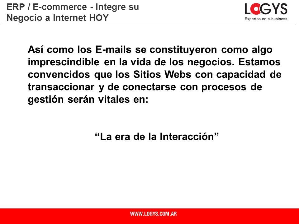 Página 30 Así como los E-mails se constituyeron como algo imprescindible en la vida de los negocios. Estamos convencidos que los Sitios Webs con capac