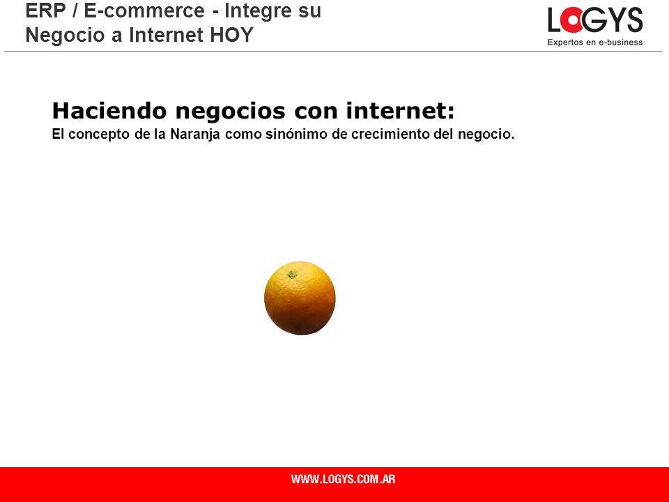 Página 4 Haciendo negocios con internet: El concepto de la Naranja como sinónimo de crecimiento del negocio. ERP / E-commerce - Integre su Negocio a I