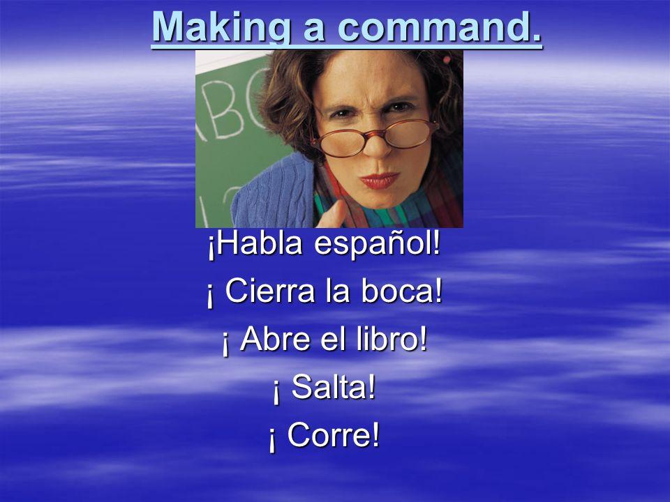 Affirmative Commands Isabel, pon los libros en la mesa. Isabel, pon los libros en la mesa. Miguel, haz tu cama. Miguel, haz tu cama.