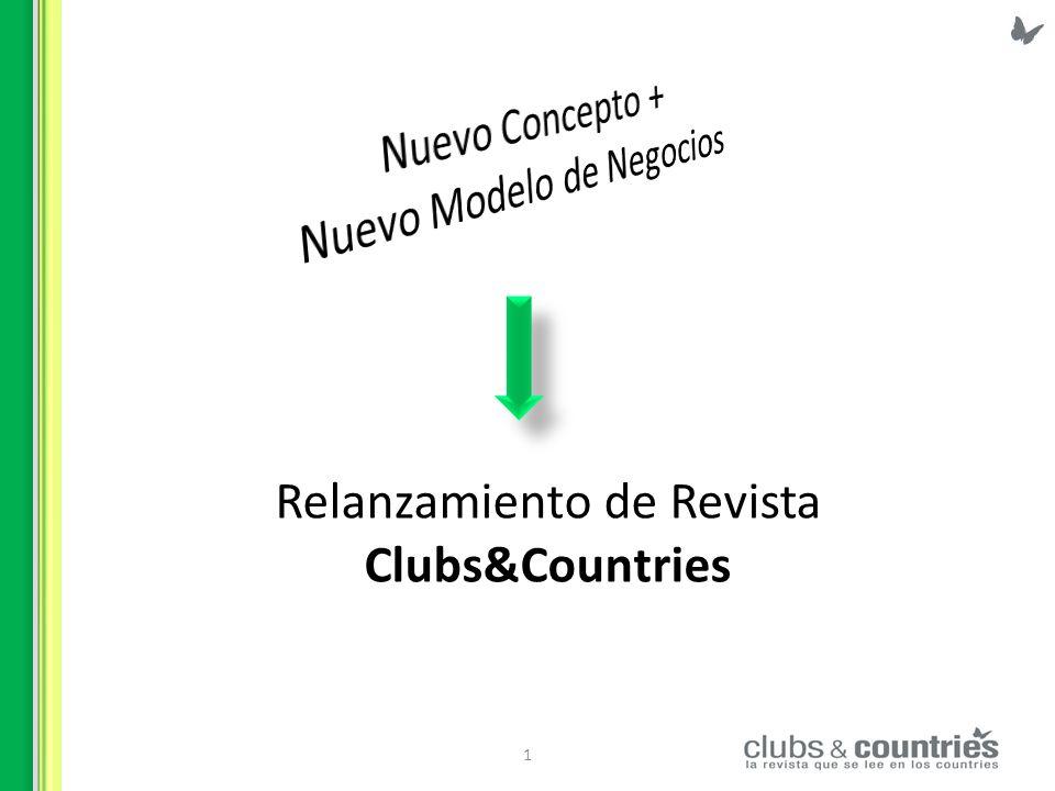 2 Modelo de Negocio Estamos en el negocio del entretenimiento Clubs & Countries es una revista de interés general que desde hace 22 años se distribuye en forma gratuita en más de 200 Countries y Barrios Privados destacados de Gran Buenos Aires, en zona Norte, Sur y Oeste.