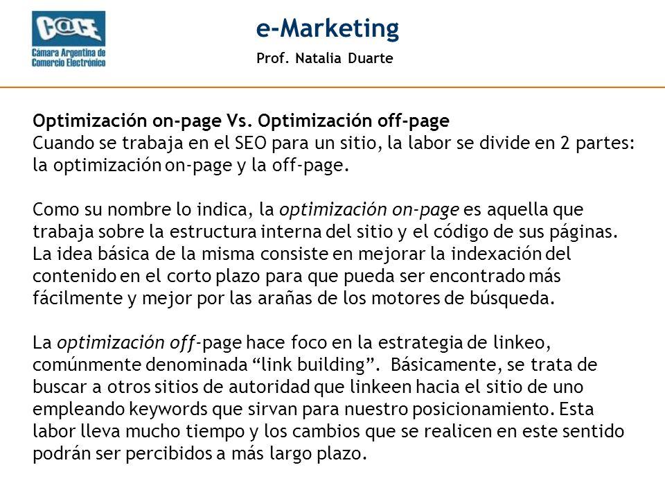 Prof. Natalia Duarte e-Marketing - 14 - META TAGS