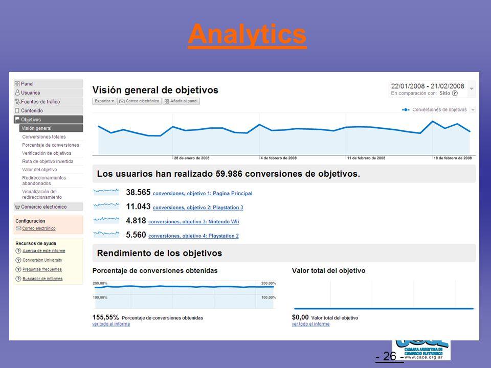 - 26 - Analytics