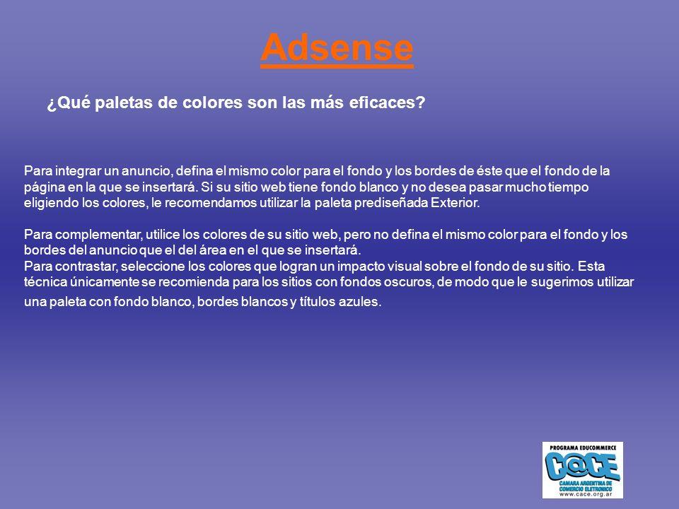 Adsense ¿Qué paletas de colores son las más eficaces?