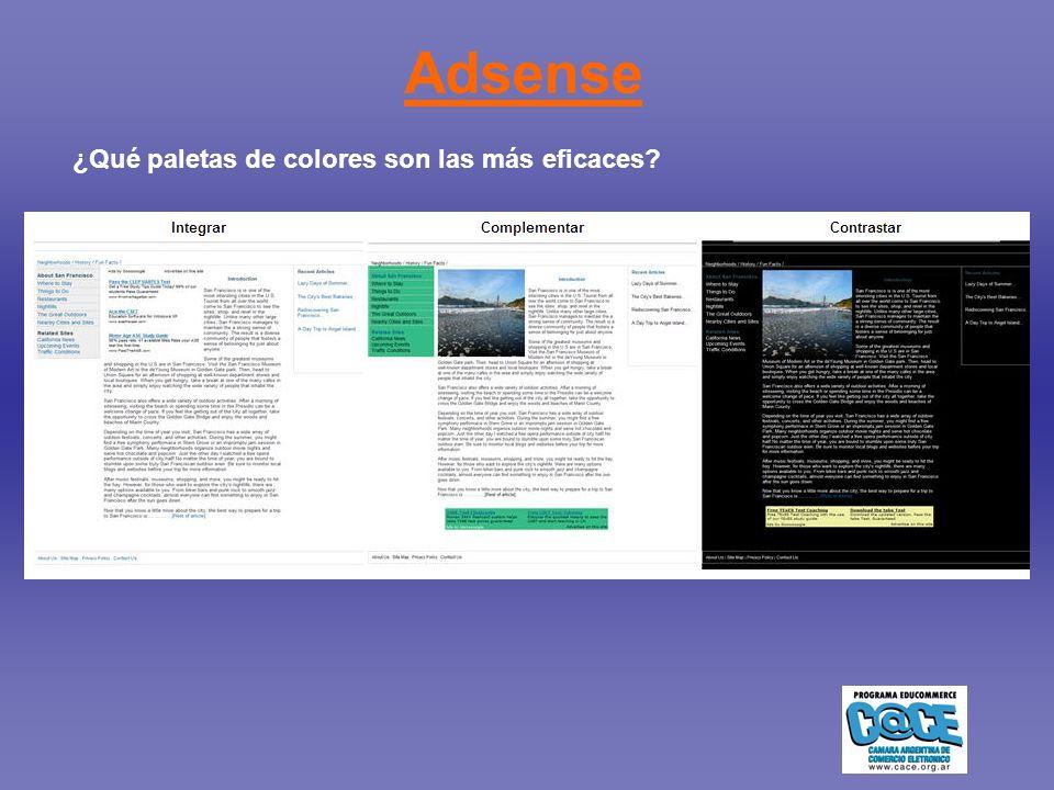 Adsense ¿Qué paletas de colores son las más eficaces