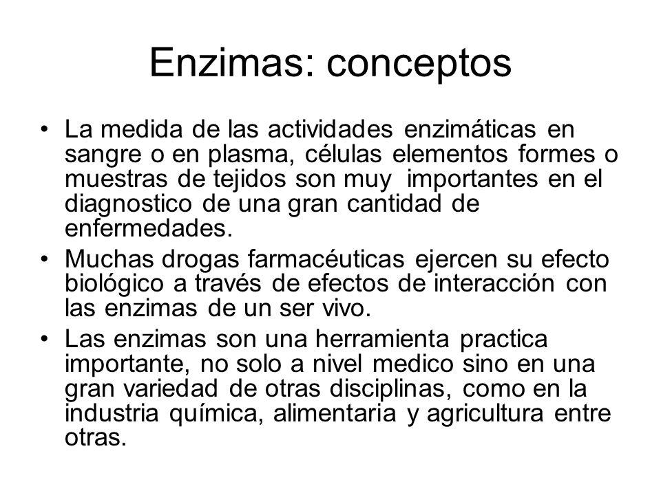 Relacion Enz-Sustrato y Enz + Productos: principio de accion de masas