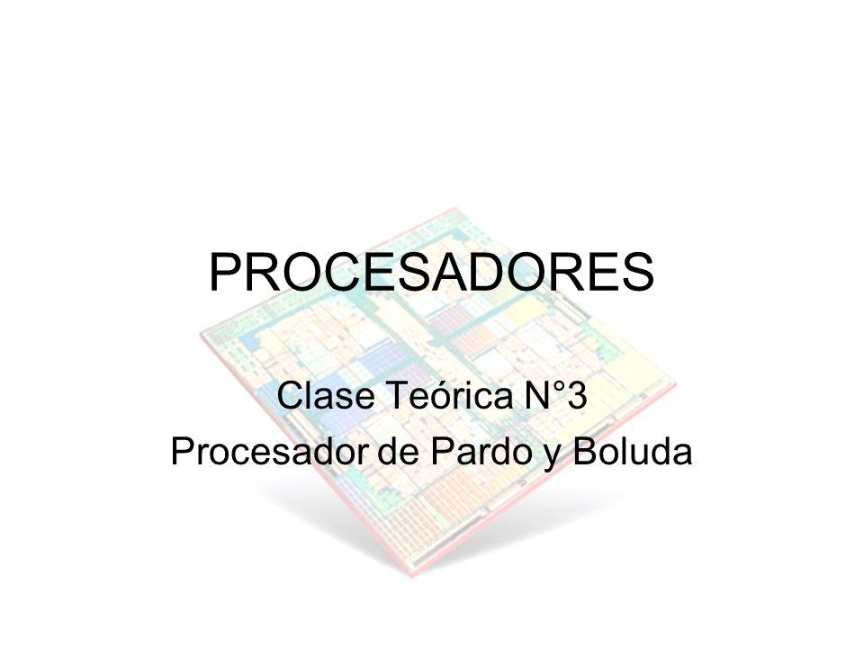 PROCESADORES Clase Teórica N°3 Procesador de Pardo y Boluda