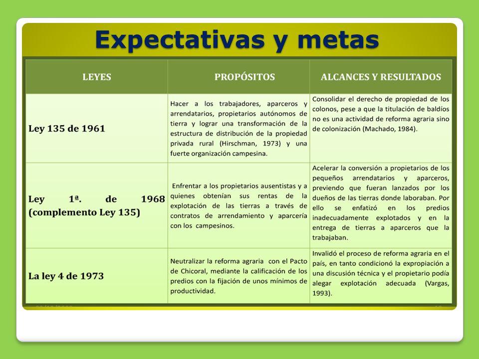 Expectativas y metas