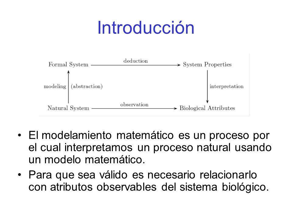 Introducción El modelamiento matemático es un proceso por el cual interpretamos un proceso natural usando un modelo matemático. Para que sea válido es