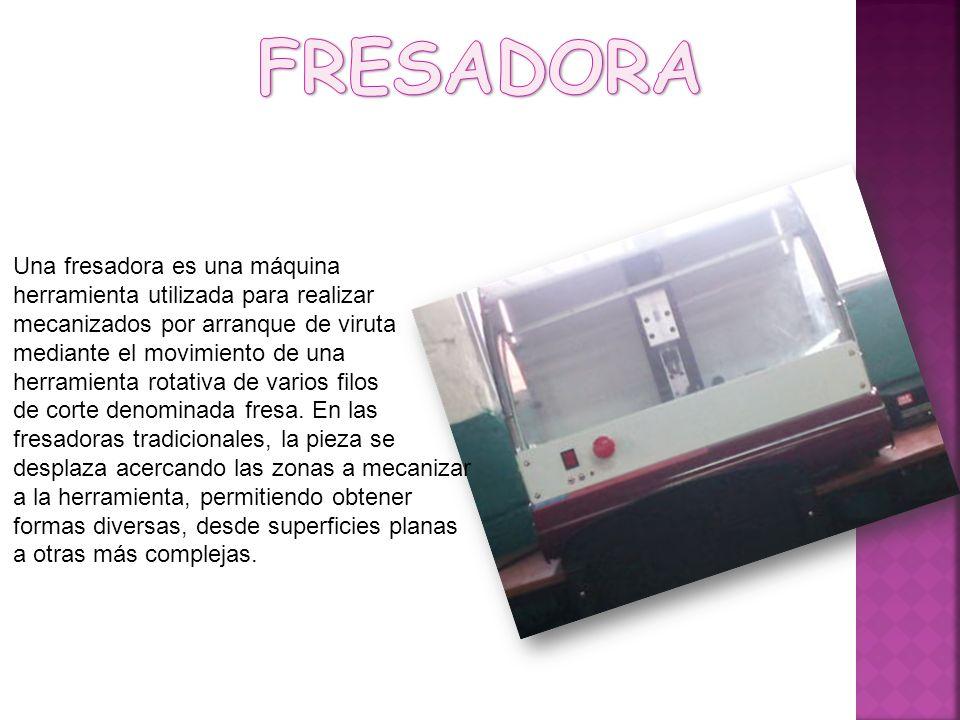 Una fresadora es una máquina herramienta utilizada para realizar mecanizados por arranque de viruta mediante el movimiento de una herramienta rotativa de varios filos de corte denominada fresa.