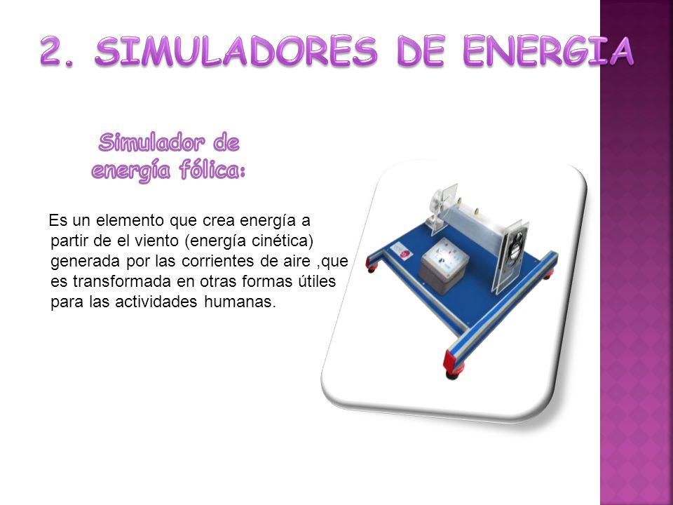 Es un elemento que crea energía a partir de el viento (energía cinética) generada por las corrientes de aire,que es transformada en otras formas útiles para las actividades humanas.