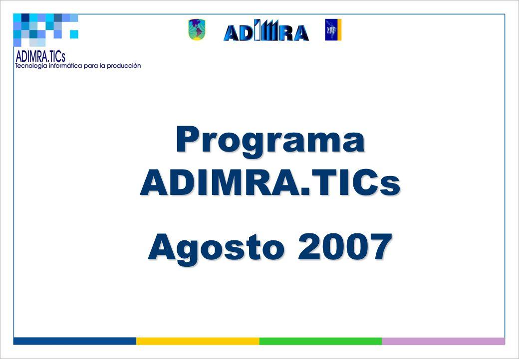 Programa ADIMRA.TICs Agosto 2007