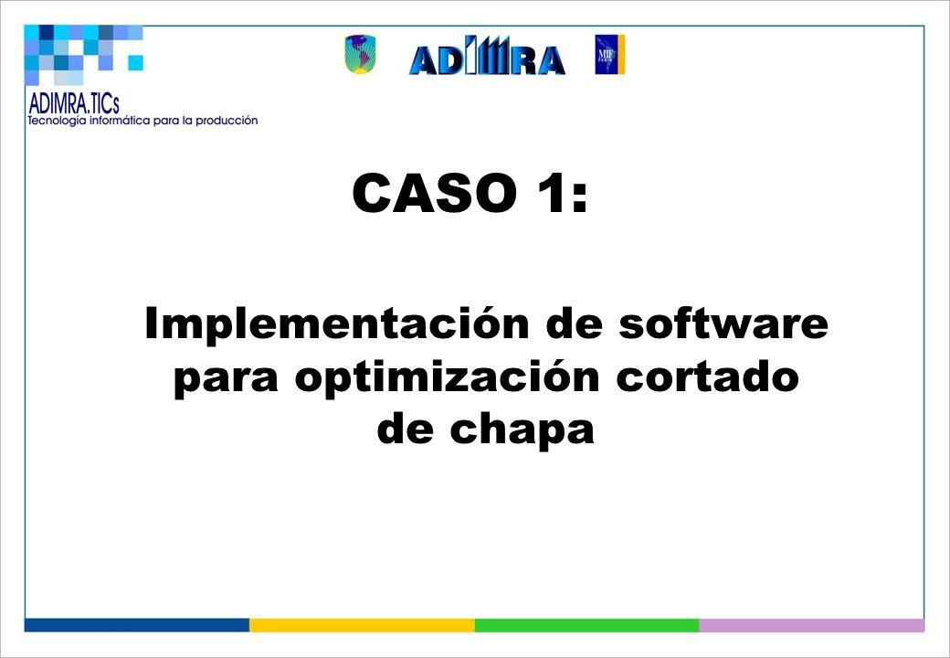 CASO 1: Implementación de software para optimización cortado de chapa