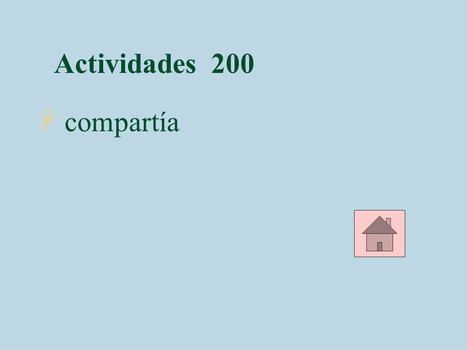 Actividades 200 H compartía