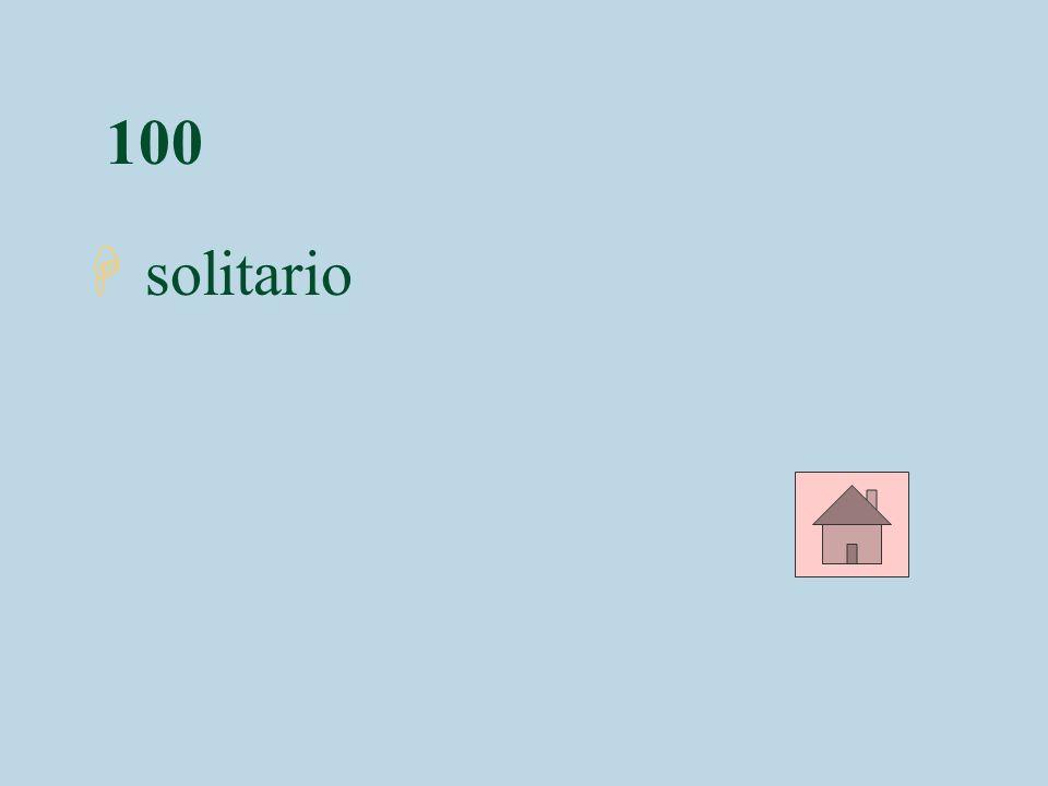 100 H solitario