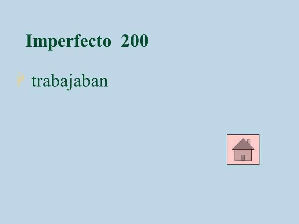 Imperfecto 300 4Marta _______ en Santo Domingo. (vivir)
