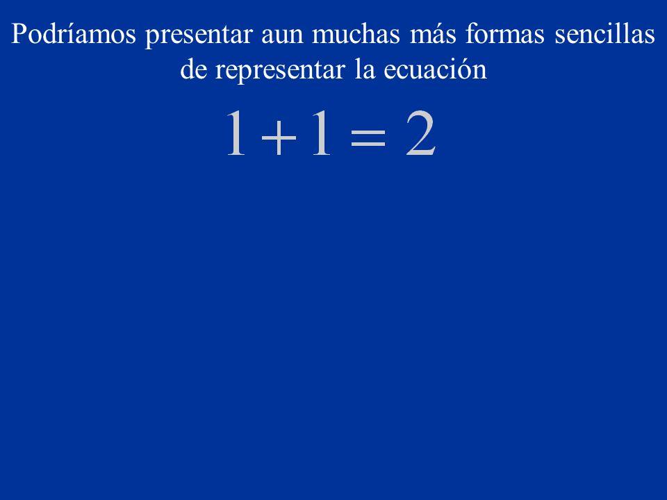 Podríamos presentar aun muchas más formas sencillas de representar la ecuación