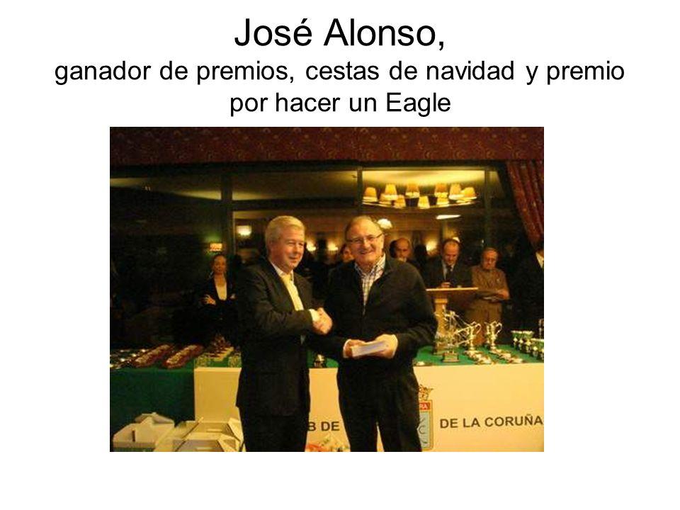 José Alonso, ganador de premios, cestas de navidad y premio por hacer un Eagle