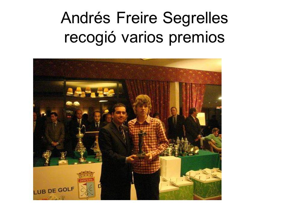 Andrés Freire Segrelles recogió varios premios