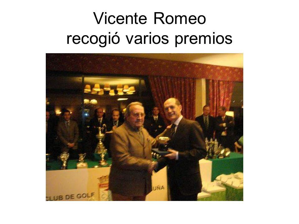 Vicente Romeo recogió varios premios