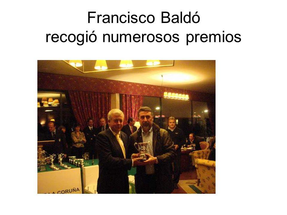 Francisco Baldó recogió numerosos premios