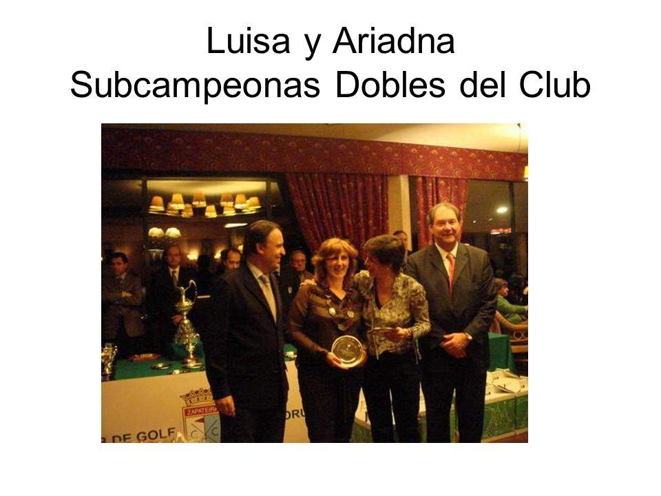 Luisa y Ariadna Subcampeonas Dobles del Club