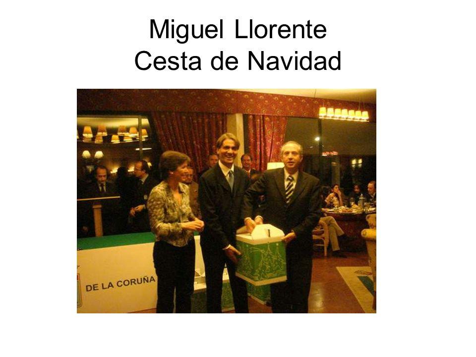 Miguel Llorente Cesta de Navidad