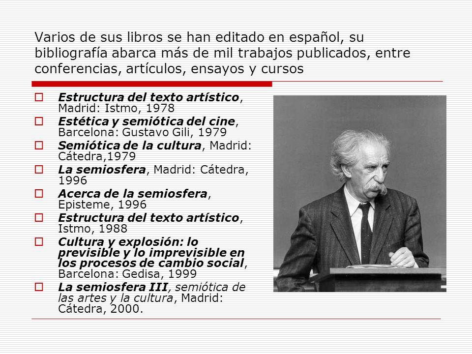 Varios de sus libros se han editado en español, su bibliografía abarca más de mil trabajos publicados, entre conferencias, artículos, ensayos y cursos