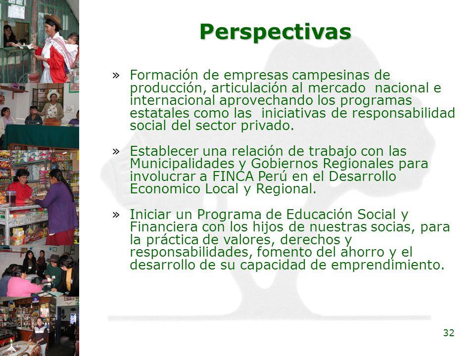 32 Perspectivas »Formación de empresas campesinas de producción, articulación al mercado nacional e internacional aprovechando los programas estatales