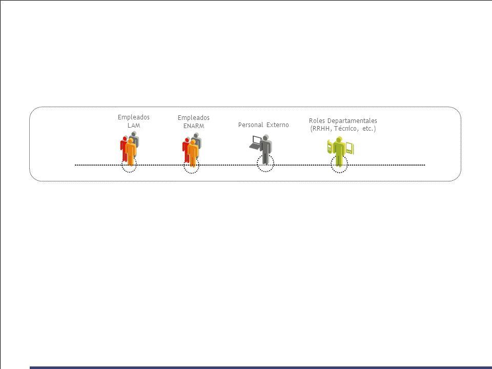 Empleados LAM Personal Externo Empleados ENARM Roles Departamentales (RRHH, Técnico, etc.)