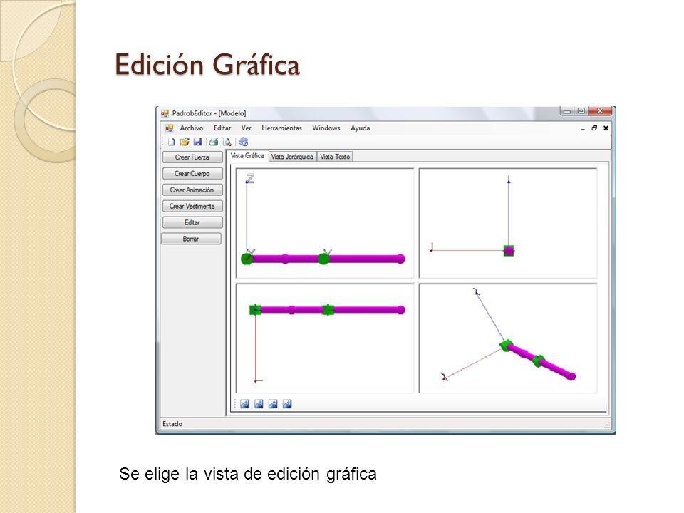 Crear Animación Se determinan las distintas posiciones de la cadena que cuando se unan formarán una animación