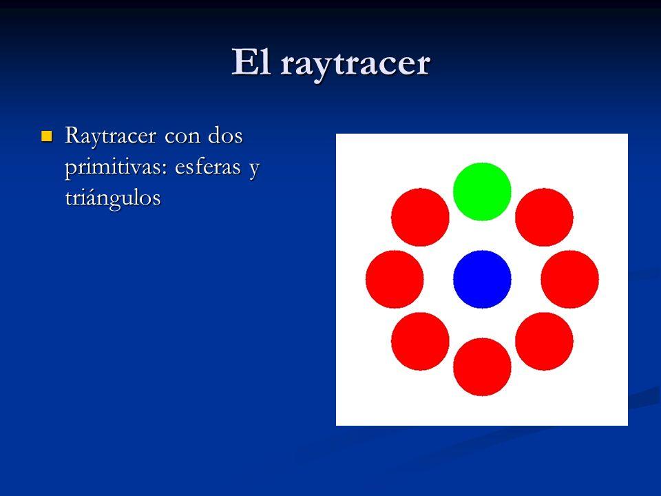 El raytracer Raytracer con dos primitivas: esferas y triángulos Raytracer con dos primitivas: esferas y triángulos