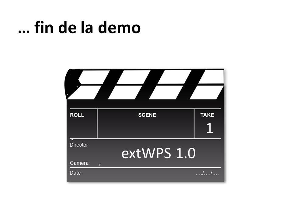 … fin de la demo extWPS 1.0 e 1e1e