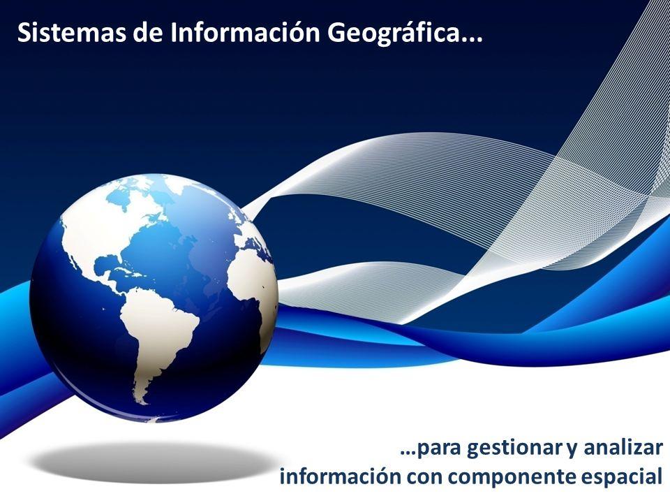 Sistemas de Información Geográfica... …para gestionar y analizar información con componente espacial