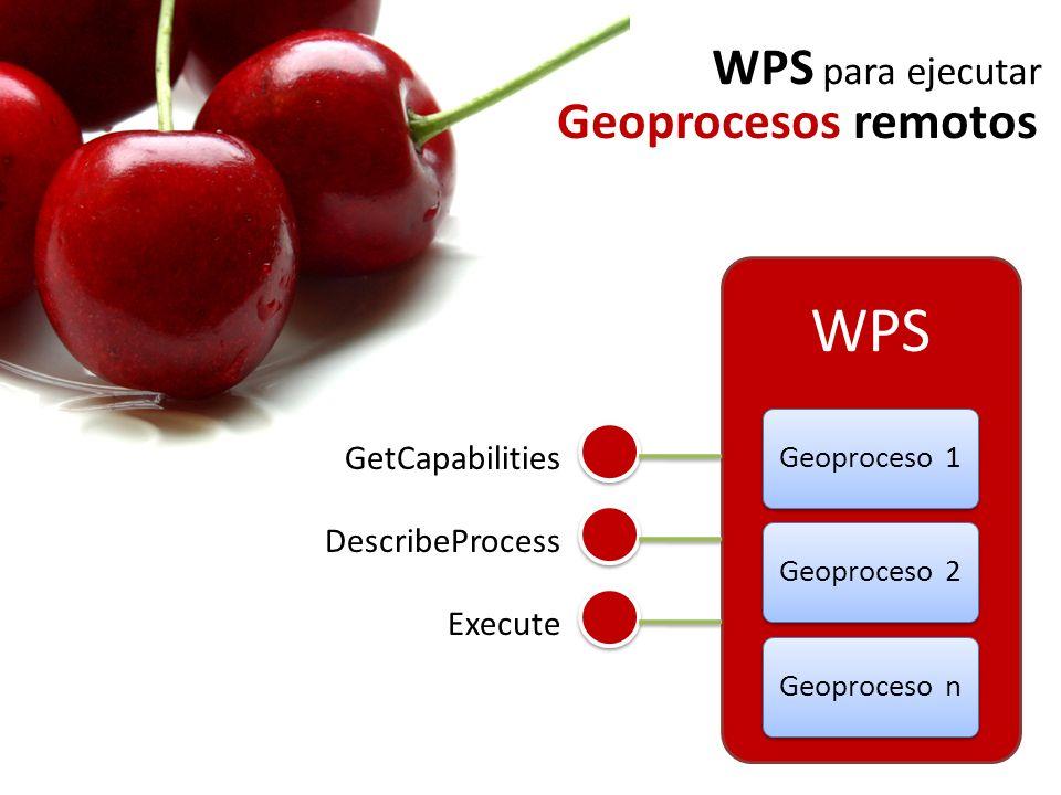 GetCapabilities Execute DescribeProcess WPS para ejecutar Geoprocesos remotos