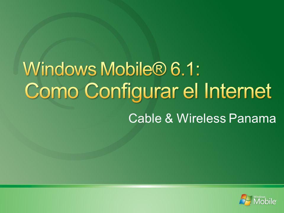 Configuración Automática Entrar a Inicio, Configuración, tab de Conexiones y se señala Configuración de la Conexión, se selecciona el País y el Operador.
