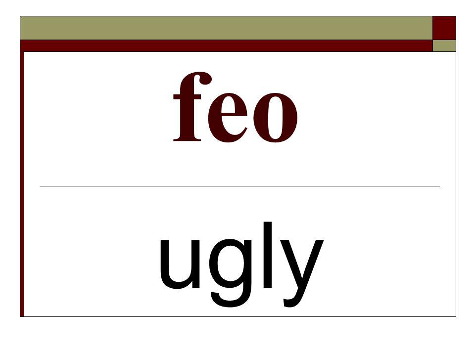 feo ugly