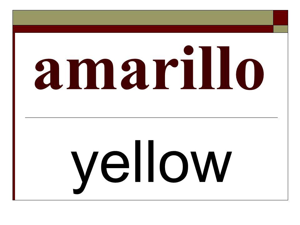 amarillo yellow