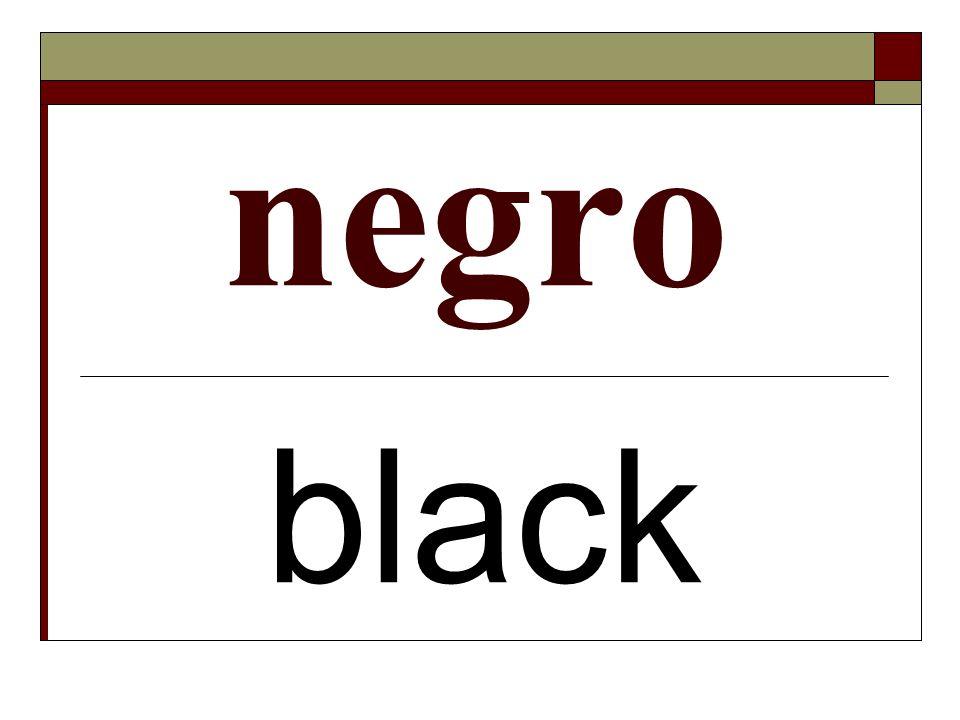 negro black