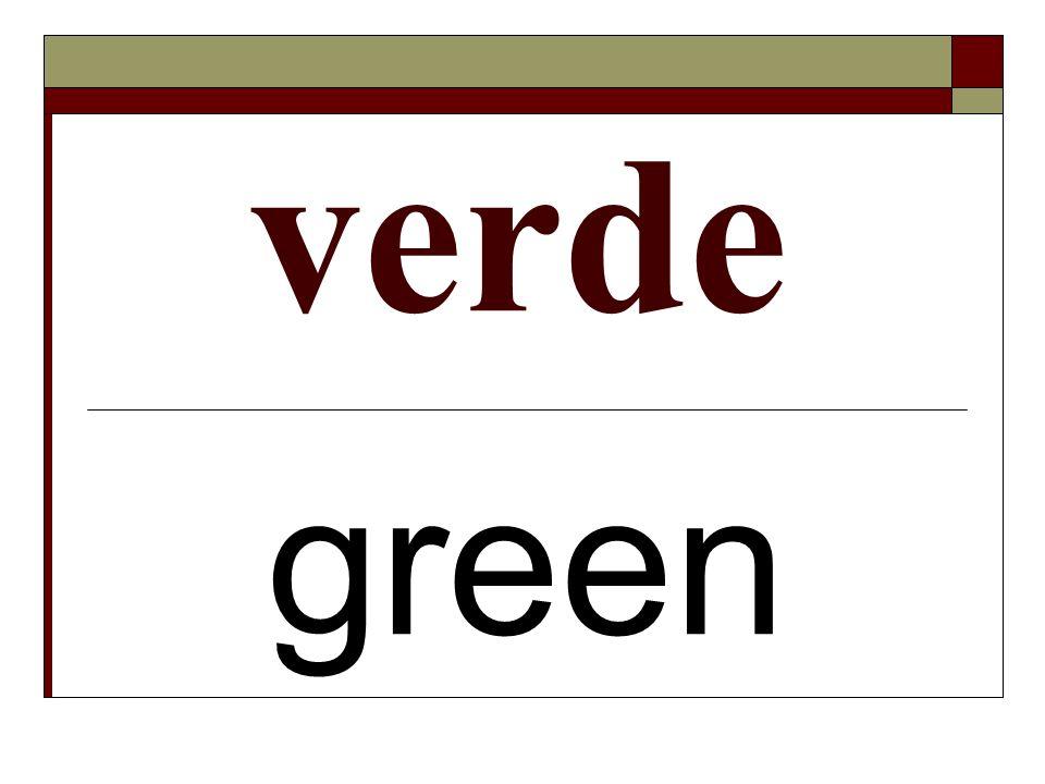 verde green