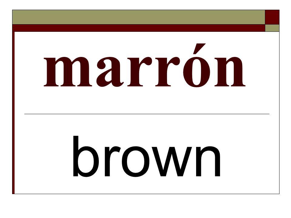 marrón brown