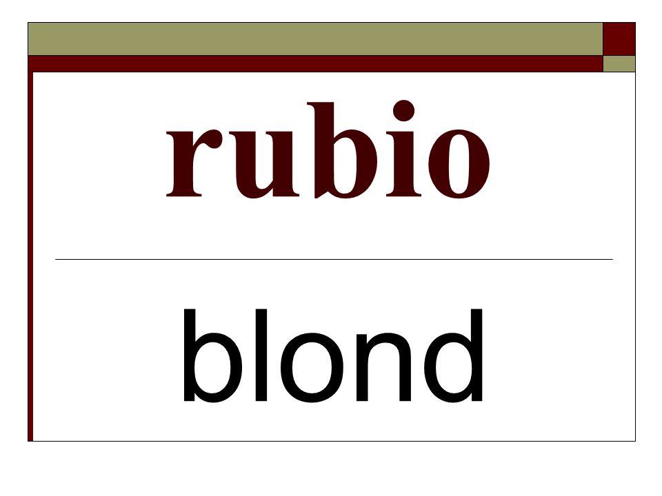 rubio blond