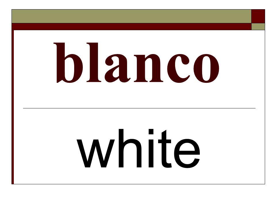 blanco white