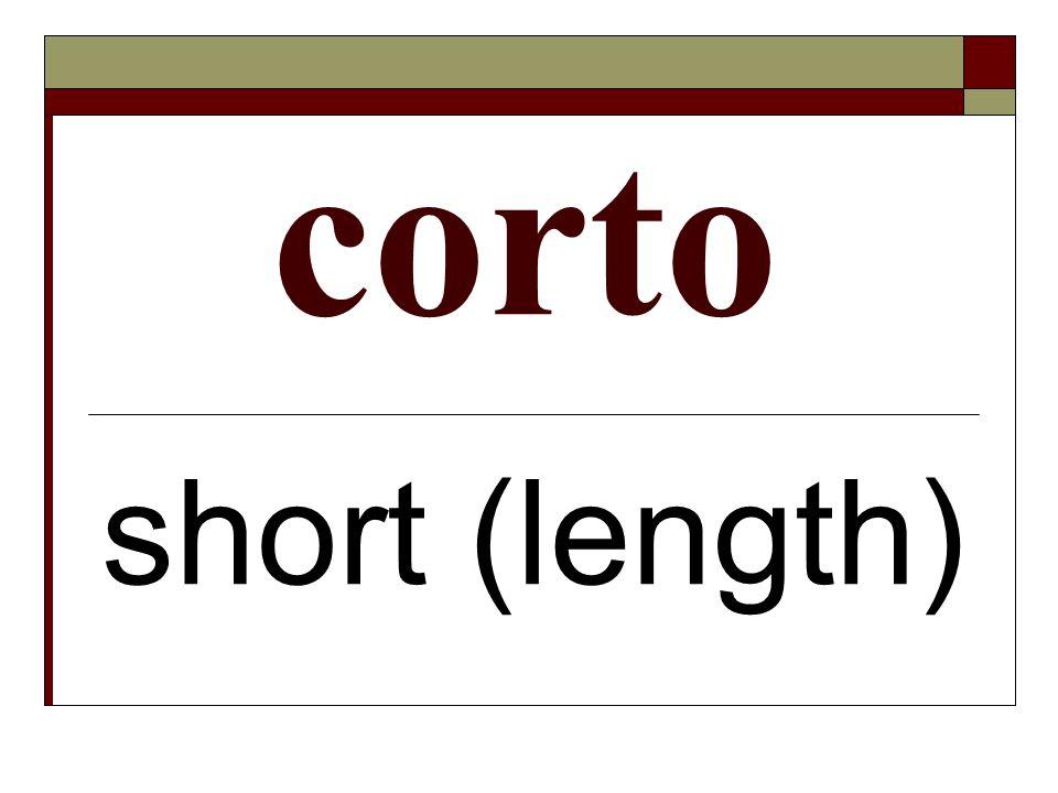corto short (length)