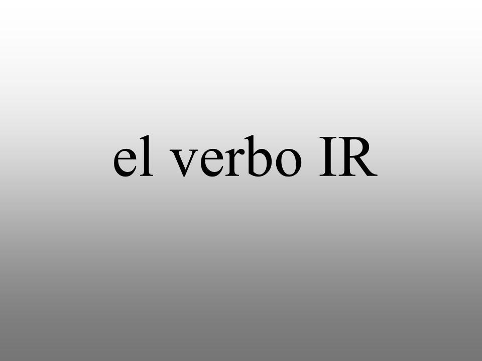 el verbo IR