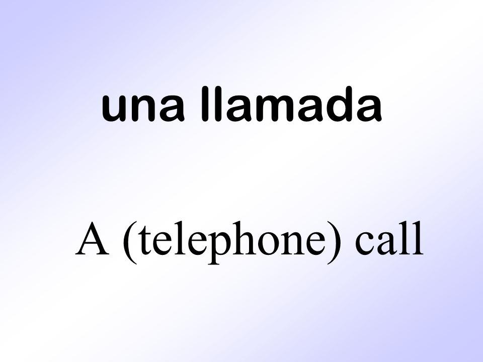 una llamada A (telephone) call