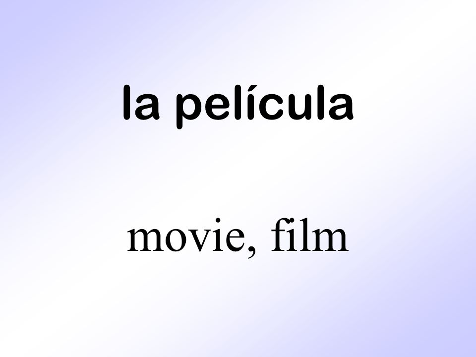 la película movie, film