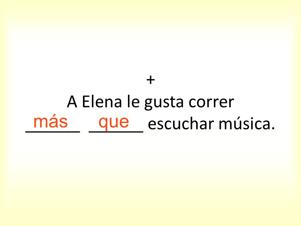 + Teo es ______ cómico _______ Tomás.