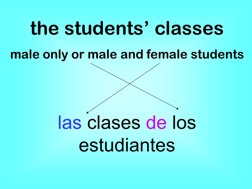 the students classes male only or male and female students las clases de los estudiantes