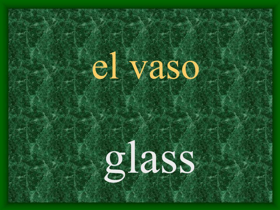 el vaso glass
